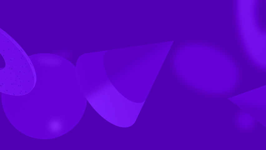 Various 3D shapes with stylish purple background   Shutterstock HD Video #1074380699