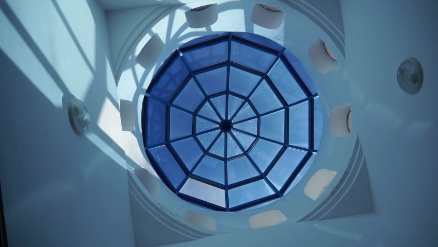The dome of the mosque rotates clockwise from the inside   Shutterstock HD Video #1074384548