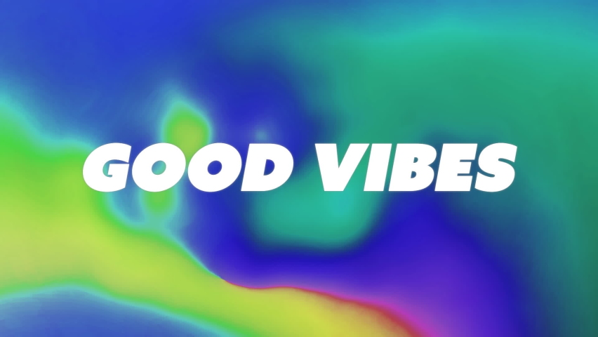 Animation of good vibes text over abstract vibrant patterned background. social media and communication concept digitally generated video.   Shutterstock HD Video #1074393986