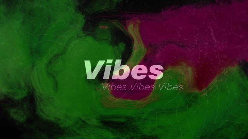 Animation of vibes text in repetition over abstract cloud background. social media and communication concept digitally generated video.   Shutterstock HD Video #1074394658