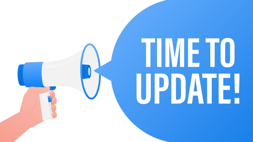 Megaphone - Time to update. Motion graphics. | Shutterstock HD Video #1074429758