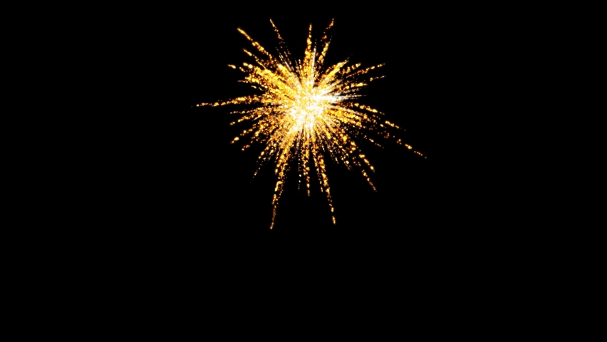 Real Fireworks display celebration, Colorful New Year Firework 4K Royalty-Free Stock Footage #1074429923