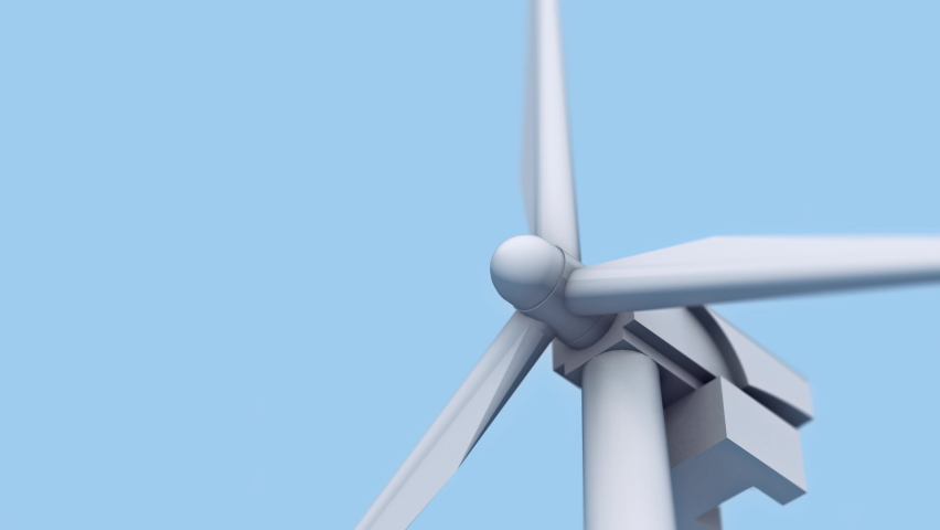 Renewable energy is produced at the Newest Power Station. Renewable energy is collected from Carbon-neutral Wind Power. Renewable energy has a smaller impact on the environment. Sustainable Power. | Shutterstock HD Video #1074647147