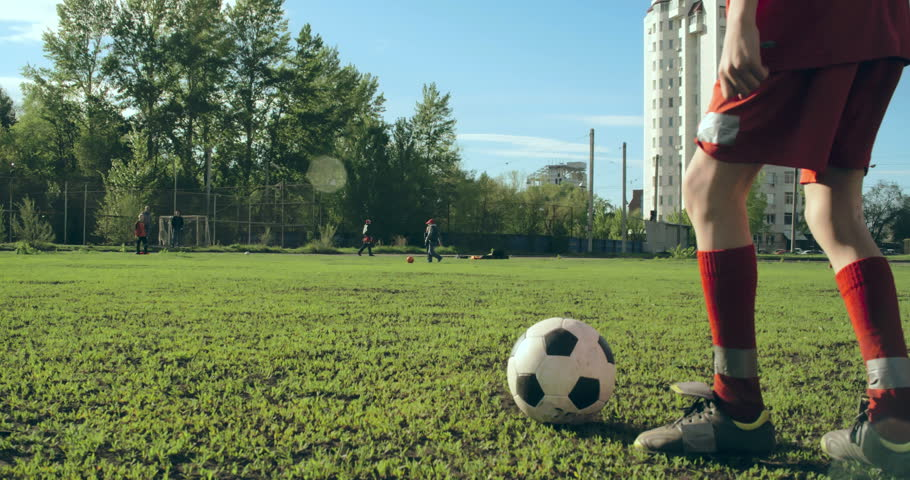 Tracking camera of two football teams passing the ball   Shutterstock HD Video #10746704