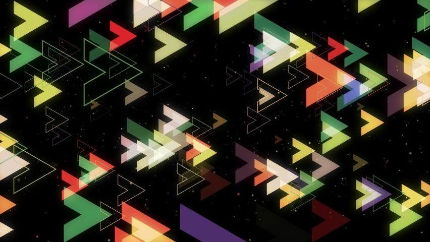 Abstract directional neon arrow geometric background. Data flow. Optical fiber. Explosion star. Seamless loop 4k motion effect. | Shutterstock HD Video #1074718325