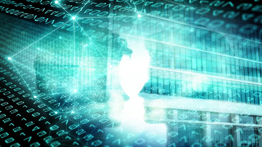 Backdrop design business global digital, technology numbers illustration network information | Shutterstock HD Video #1074718664