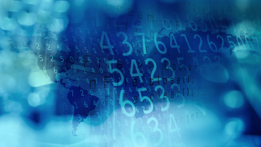 Concept network data digital, binary design success internet | Shutterstock HD Video #1074718670
