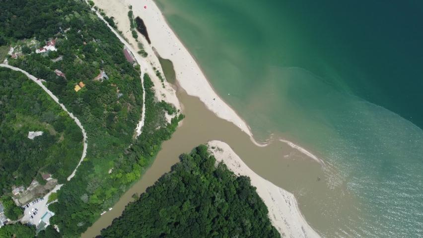 Aerial impression of Black Sea coast, Bulgaria   Shutterstock HD Video #1075043681