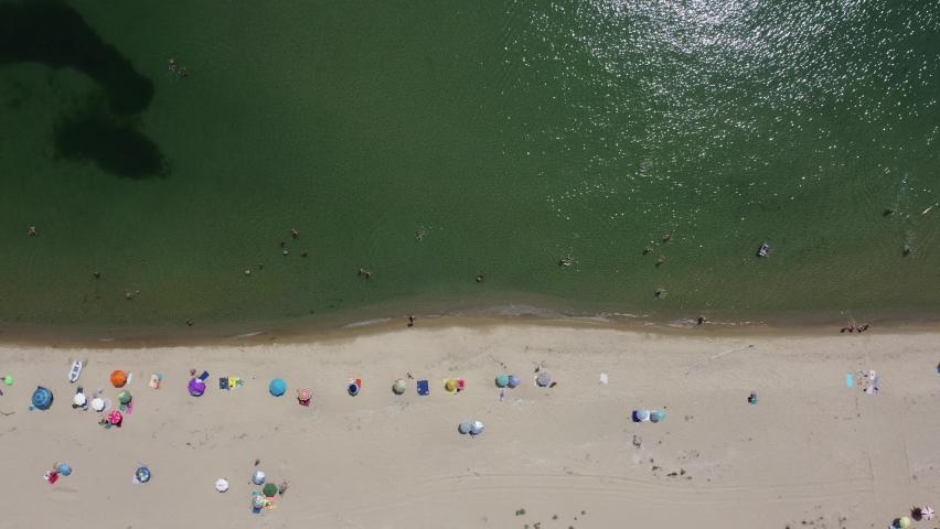 Aerial impression of Black Sea coast, Bulgaria   Shutterstock HD Video #1075043684