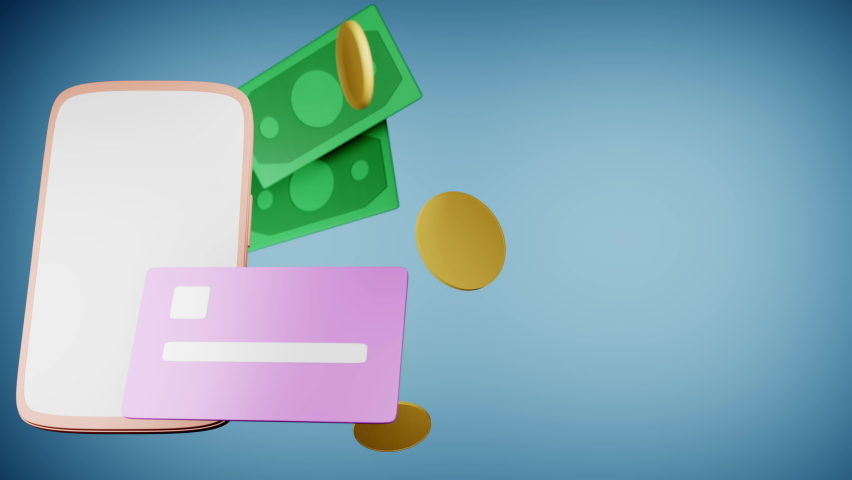 3d render Cashback and money refund icon concept Royalty-Free Stock Footage #1075801919