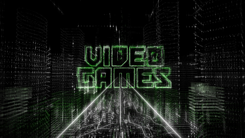 Experiencing Virtual World Of Alternate Reality Built By Newest Software. Visualization Of Future Network. Future Network Opportunities. Future Network To Create Artificial Cities. Video Games.   Shutterstock HD Video #1076466110