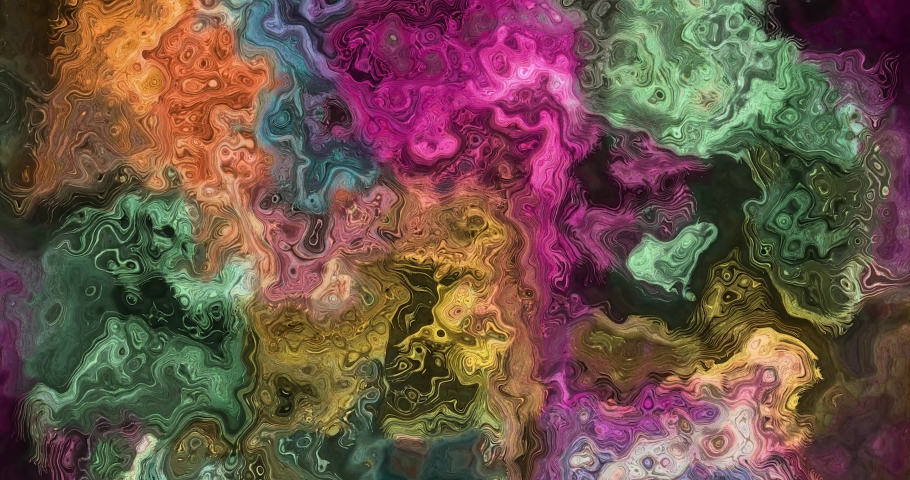 Colorful gradient background. Multicolored gradient blurred texture. Abstract twisted colors.Fractal motion graphic.   Shutterstock HD Video #1076621576