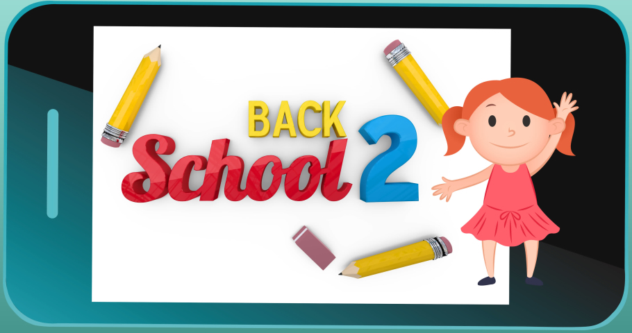 Animation of back to school text on black background. school, education and study concept digitally generated video.   Shutterstock HD Video #1076766716