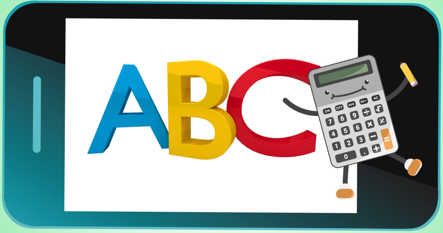 Animation of abc text on black background. school, education and study concept digitally generated video.   Shutterstock HD Video #1076767175
