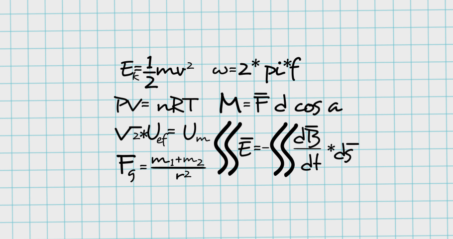 Animation of mathematical equations moving on white background. school, education and study concept digitally generated video.   Shutterstock HD Video #1076768075