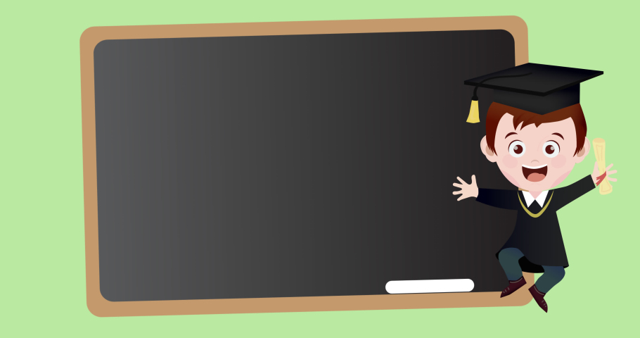 Animation of board icon moving on green background. school, education and study concept digitally generated video.   Shutterstock HD Video #1076768231