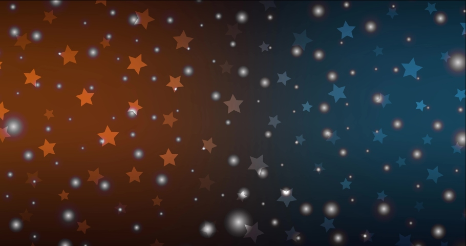4K looping dark blue, yellow footage in Merry Christmas style. Colorful fashion clip with gradient stars, snowflakes. Clip for holyday commercials. 4096 x 2160, 30 fps.   Shutterstock HD Video #1076772491