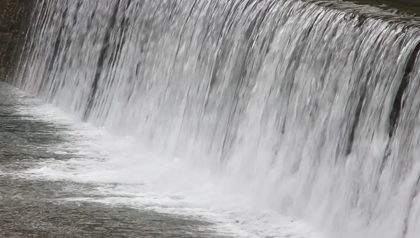 Water flowing down  the concrete step in Japan | Shutterstock HD Video #1076795771