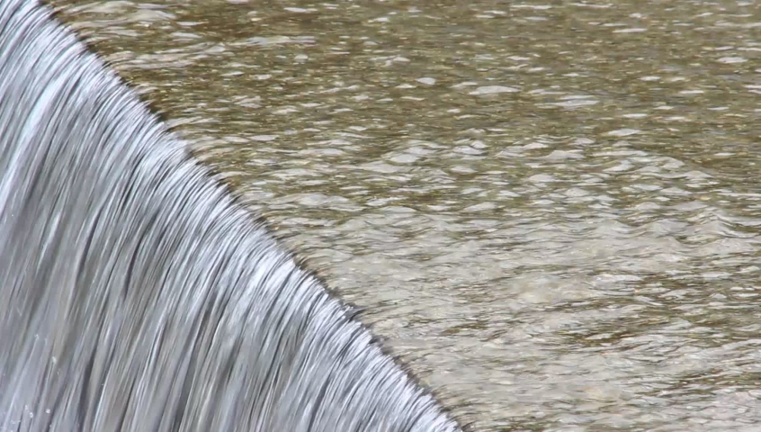 Water flowing down  the concrete step in Japan | Shutterstock HD Video #1076795774