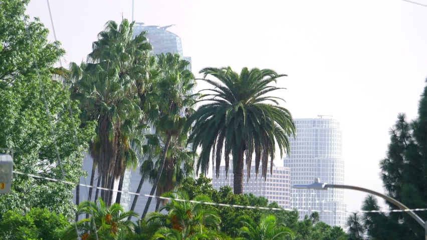 Los Angeles downtown view slow motion | Shutterstock HD Video #1076823452