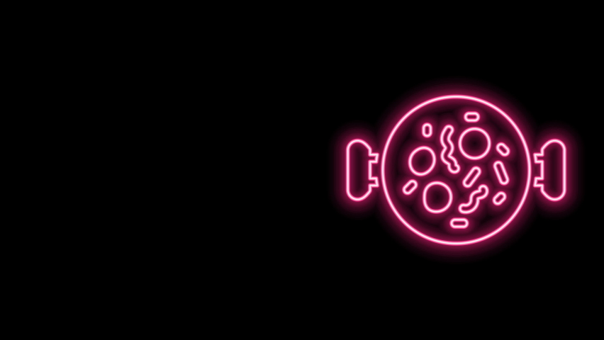 Glowing neon line Chicken tikka masala icon isolated on black background. Indian traditional food. 4K Video motion graphic animation. | Shutterstock HD Video #1077077576