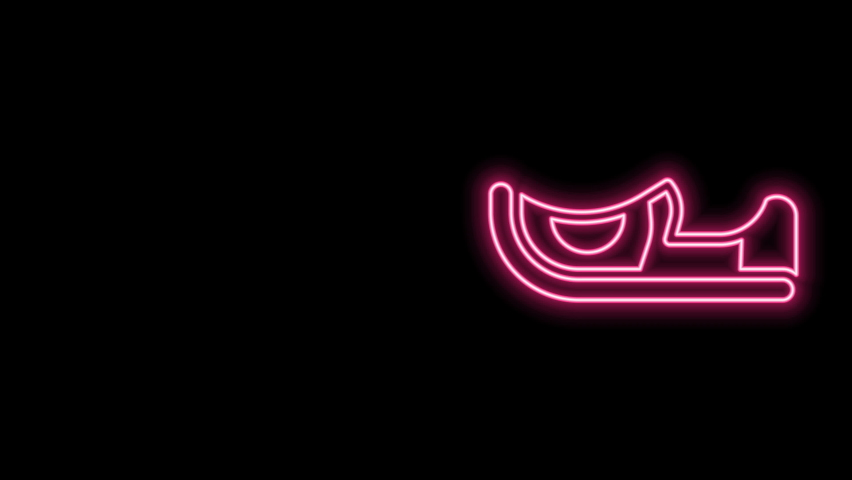 Glowing neon line Traditional indian shoes icon isolated on black background. 4K Video motion graphic animation. | Shutterstock HD Video #1077077621