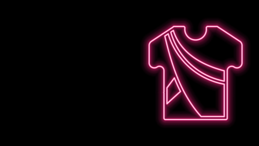 Glowing neon line Indian man dress traditional hindu clothes with long shirt icon isolated on black background. 4K Video motion graphic animation. | Shutterstock HD Video #1077077693