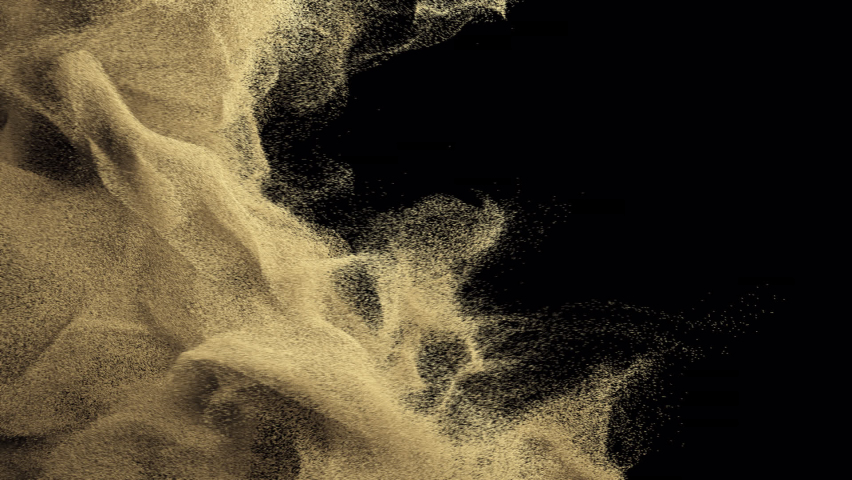 Sand transition. Animation of sand on a black background | Shutterstock HD Video #1077119855