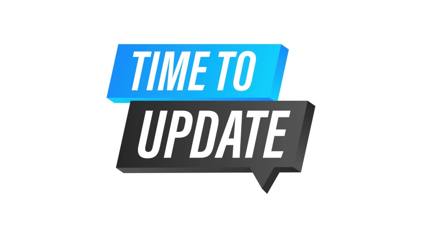 System software update or upgrade. Banner new update. Time to Update. Motion graphics   Shutterstock HD Video #1078613531