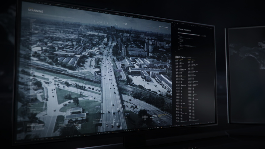 The police are using the newest tracking system. The Police is tracking the location of the dangerous criminals. Tracking software has identified the vehicle with convicts. Police pursuit. Interface.   Shutterstock HD Video #1078701587