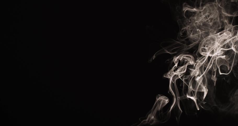 Smoke Vapor Wisps Slowly Rising Dark Background 4k Video Footage | Shutterstock HD Video #1079144270