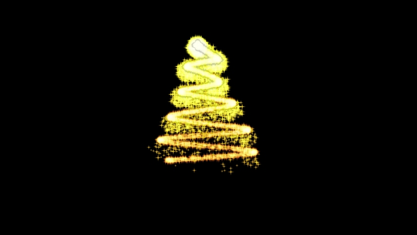 Animated christmas tree on black screen background   Shutterstock HD Video #1079294081
