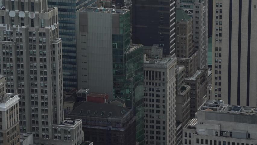Skyscrapers In Manhattan New York City, USA    Shutterstock HD Video #1080919661