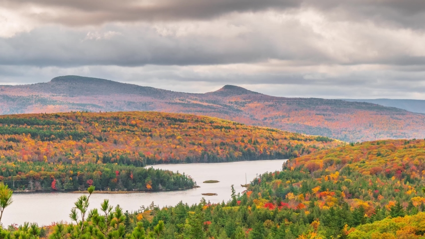 Catskill Mountains, New York, Peak Fall Foilage Timelapse Video   Shutterstock HD Video #1081010738