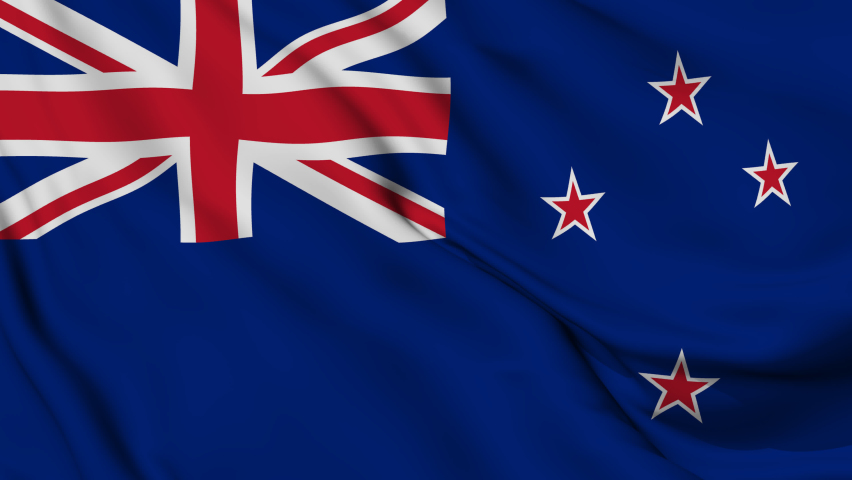 New zealand National Flag. 4K seamless loop animation of the new zealand flag. | Shutterstock HD Video #1081247642