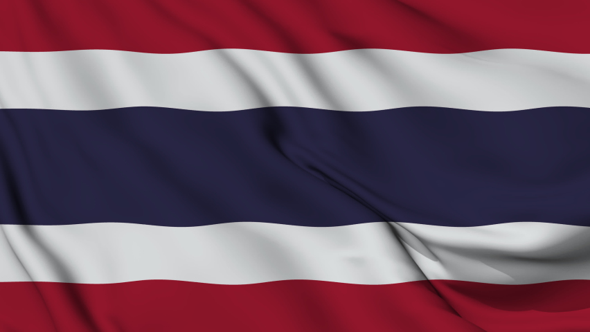 Thailand National Flag. 4K seamless loop animation of the thailandn flag.  | Shutterstock HD Video #1081255121