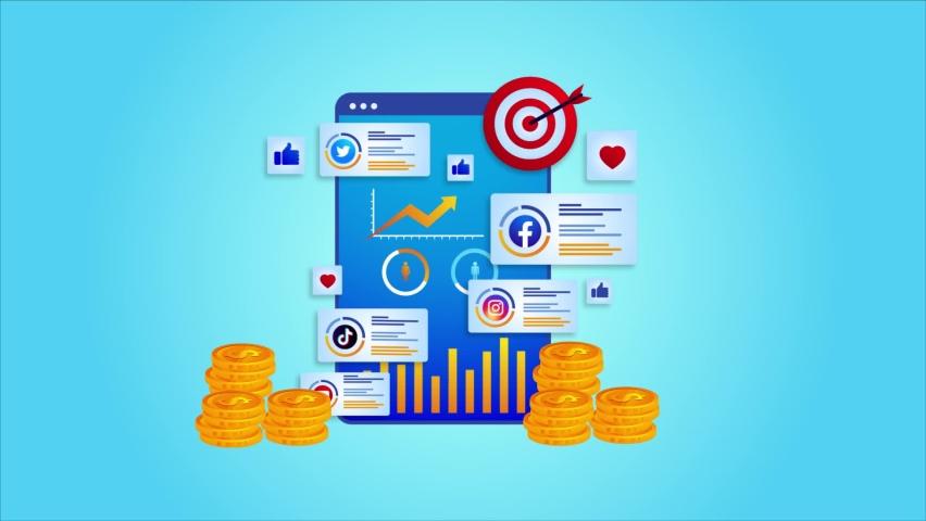Digital marketing startegy animation video. Target marketing,Customer targeting animation. | Shutterstock HD Video #1081273199