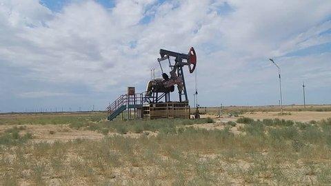 Petrochemical rocking on deposit in Kazakhstan.