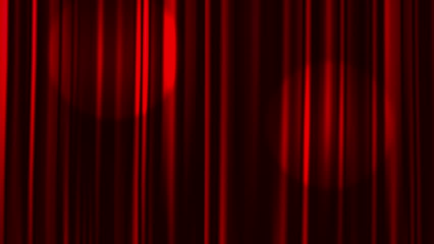 Home Movies Theater Curtain Video Stock Footage