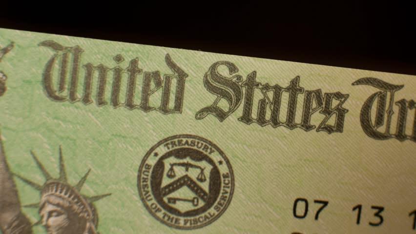 Government Check, US Treasury pan