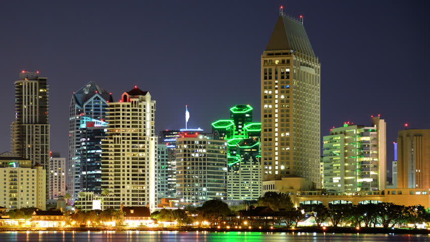 San Diego Skyline 08 Time Stock Footage Video 100 Royalty Free 10845038 Shutterstock
