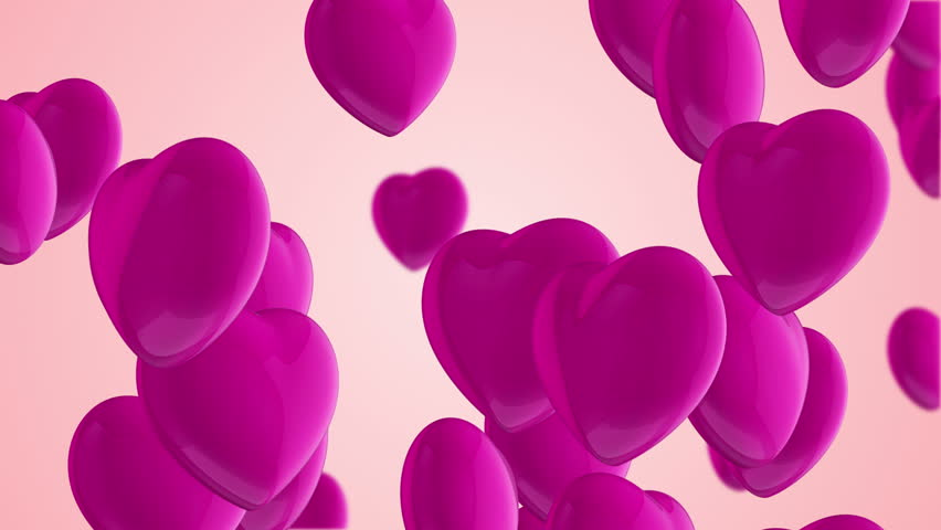 Animation flying of red glossy hearts. Abstract lovely background for Valentine's Day or movie about love and married. Animation of seamless loop. | Shutterstock HD Video #10865459