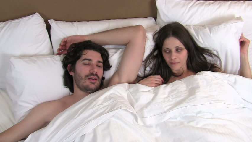 Man snores, woman has trouble sleeping - HD