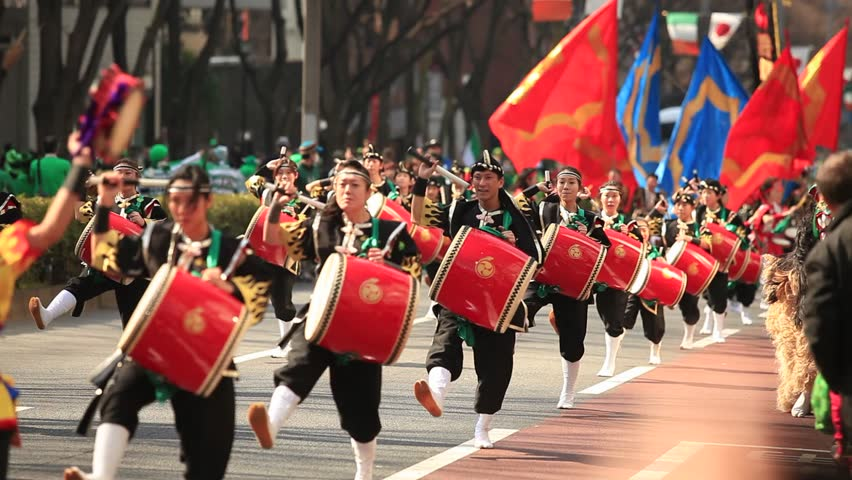 St. Patrick's Day parade in Tokyo, Japan. TOKYO JAPAN - AUGUST 2014