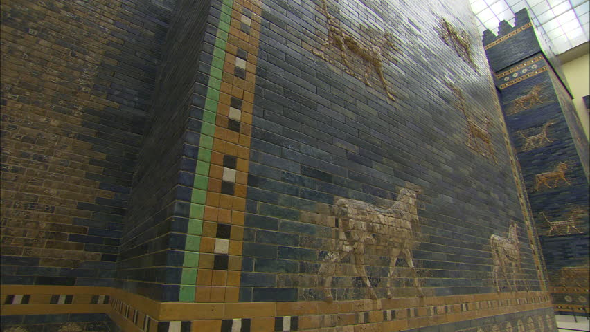 BERLIN, GERMANY - FEBRUARY 17, 2011: View of Ishtar gate at Pergamon Museum in Berlin