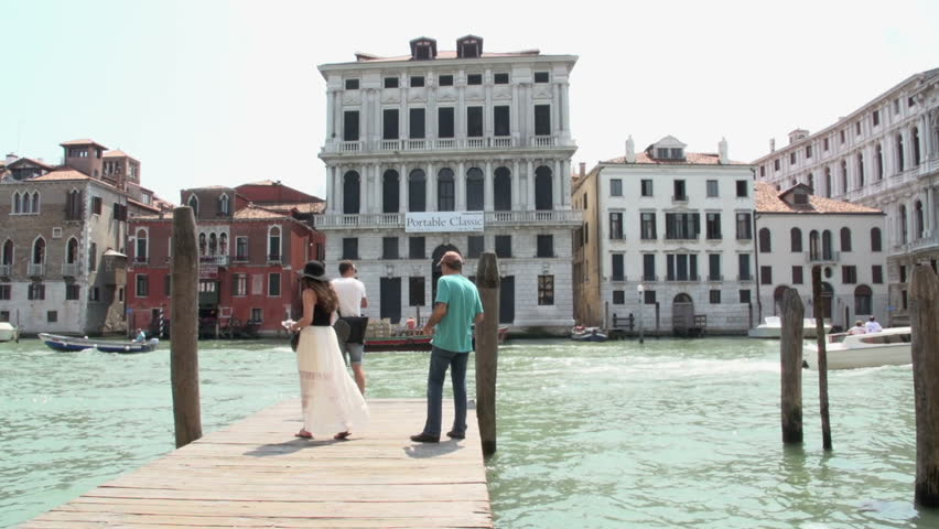 Photo shoot at canal of Venice | Shutterstock HD Video #10966559