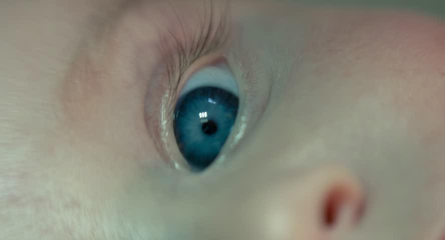 Eye macro newborn.   Shutterstock HD Video #11002784