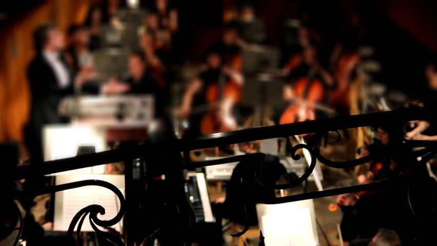 view on orchestra in theater