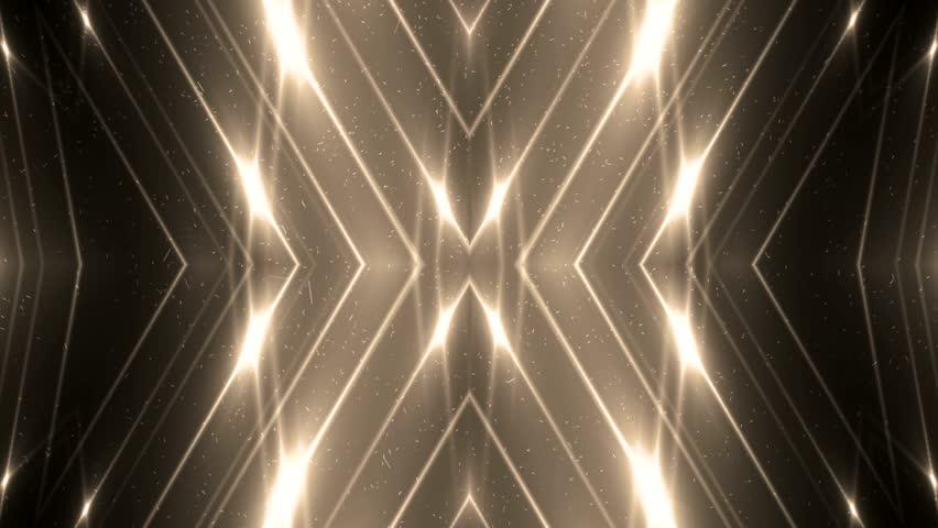 VJ Fractal gold kaleidoscopic background. Background motion with fractal design. Disco spectrum lights concert spot bulb. More sets footage in my portfolio. | Shutterstock HD Video #11045180