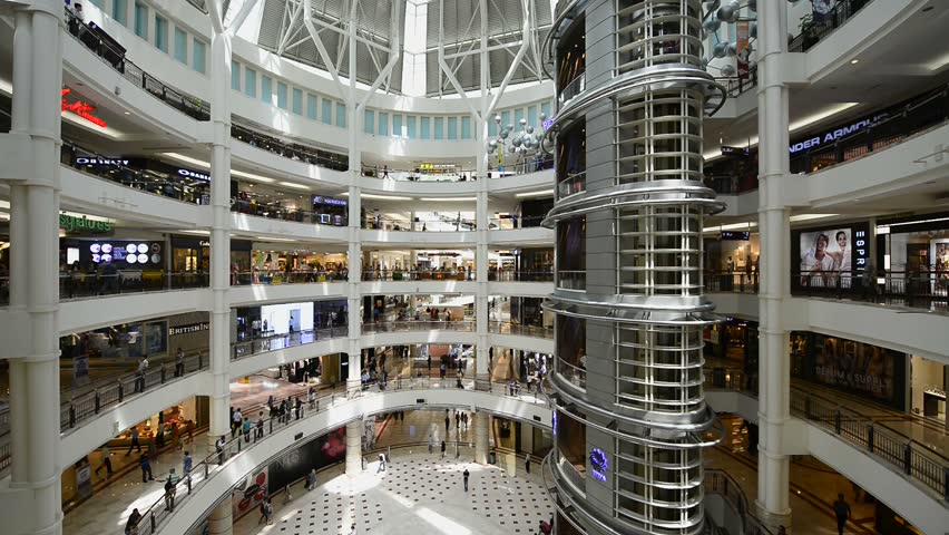 KUALA LUMPUR, MALAYSIA -July 29, 2015 : Time Lapse at People shopping in Suria KLCC mall on July 29, 2015 in Kuala Lumpur, Malaysia #11119121